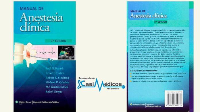 Manual de anestesia clínica por Barash, 7.ª Ed.