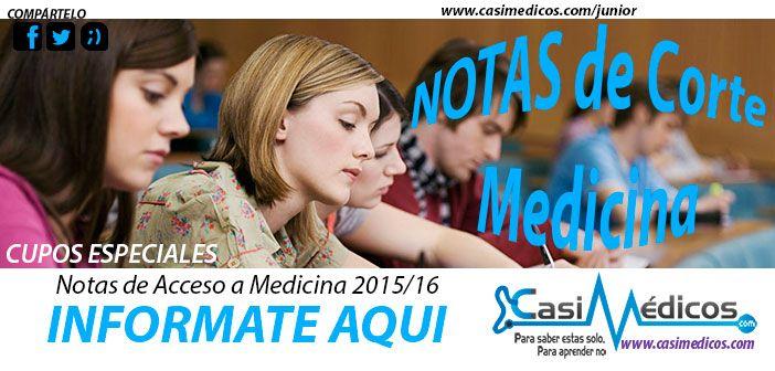 Notas de Corte Medicina para Minusválidos 2015/16