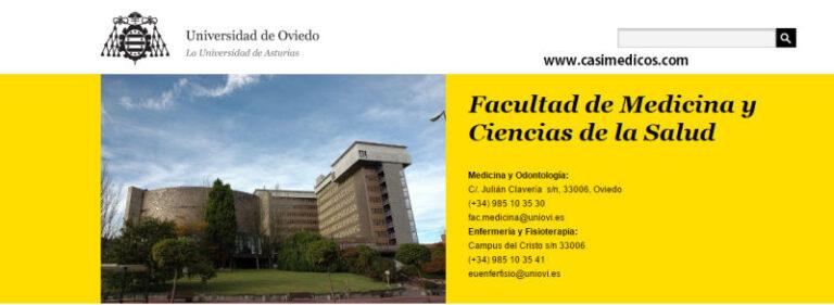 Oviedo (Asturias). Primeras notas de corte de Ciencias de la Salud. 2015-2016