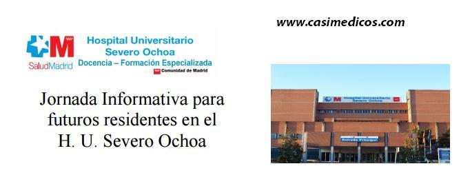 Jornada Informativa para nuevos residentes H. Severo Ochoa 2016