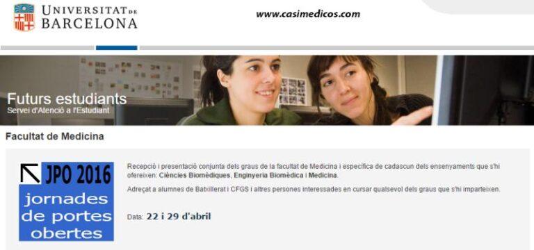 Jornada de Puertas Abiertas Universidad de Barcelona 2016