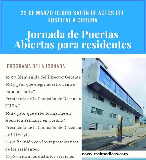 Complejo Hospitalario Universitario de A Coruña. Jornada de Puertas Abiertas para residentes