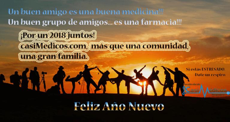 ¡Por un 2018 juntos! casiMedicos más que una comunidad, una gran familia.