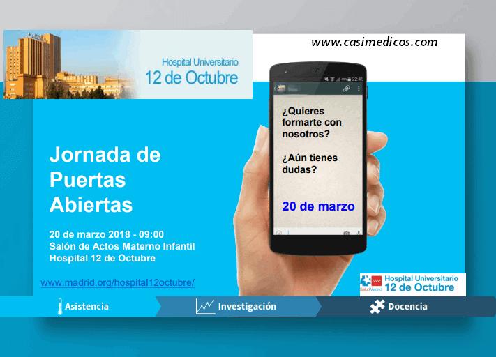 Hospital Universitario 12 de Octubre: JORNADA DE PUERTAS ABIERTAS 2018 @ Hospital Universitario 12 de Octubre | Madrid | Comunidad de Madrid | Spain