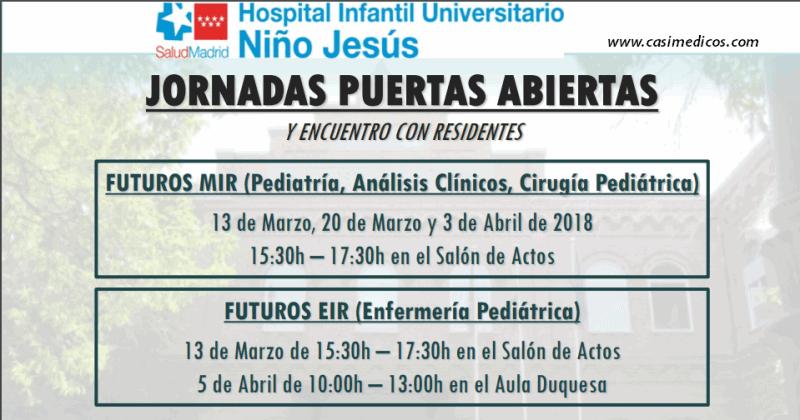 Hospital del Niño Jesús: JORNADA DE INFORMACIÓN PARA FUTUROS RESIDENTES 2018 @ Hospital del Niño Jesus | Madrid | Comunidad de Madrid | Spain
