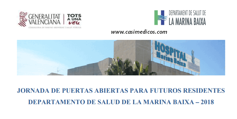 Jornada de Puertas Abiertas para Futuros Residentes H. Marina Baixa Villajoyosa 2018 @ Hospital Marina Baixa | Villajoyosa | Comunidad Valenciana | Spain