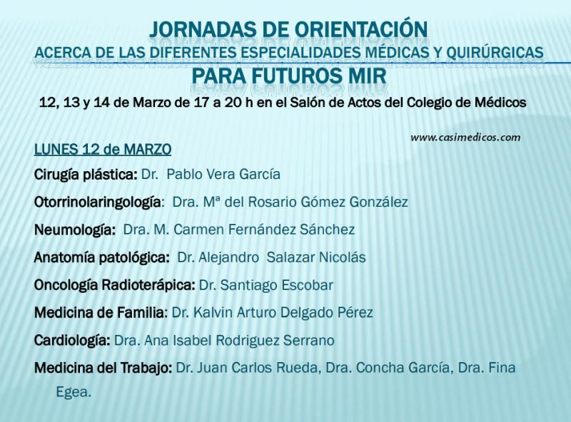Jornadas de Orientación sobre especialidades para futuros MIR Colegio de Médicos Murcia @ Colegio Oficial de Médicos de Murcia | Murcia | Región de Murcia | Spain