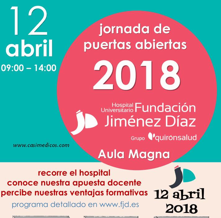 Jornada de Puertas Abiertas para aspirantes a hacer una residencia en la Fundación Jimenez Diaz 2018 @ Hospital Universitario Fundación Jiménez Díaz | Madrid | Comunidad de Madrid | Spain