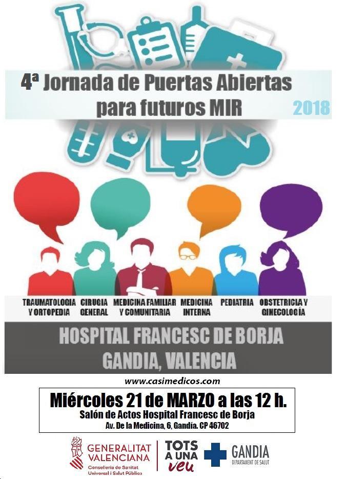 Jornada de puertas abiertas del hospital de Gandia para futuros MIR 2018 @ Hospital Francesc de Borja | Gandia | Comunidad Valenciana | Spain