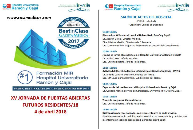 Jornadas de Puertas Abiertas en el Hospital Universitario Ramón y Cajal (Madrid) 2018 @ Hospital Universitario Ramón y Cajal (Madrid) | Madrid | Comunidad de Madrid | Spain