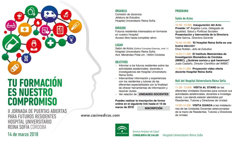 II Jornada de Puertas Abiertas para Futuros Residentes.Hospital Universitario Reina Sofía. Córdoba