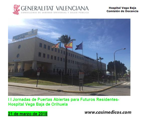 II JORNADAS PUERTAS ABIERTAS 2018. Hospital Vega Baja. Orihuela (Alicante) @ Hospital Vega Baja. Orihuela (Alicante) | Orihuela | Comunidad Valenciana | Spain