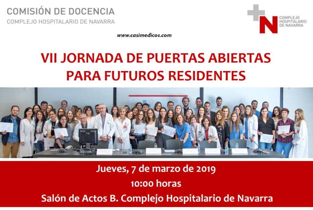 VII JORNADA DE PUERTAS ABIERTAS PARA FUTUROS RESIDENTES C.H. Navarra