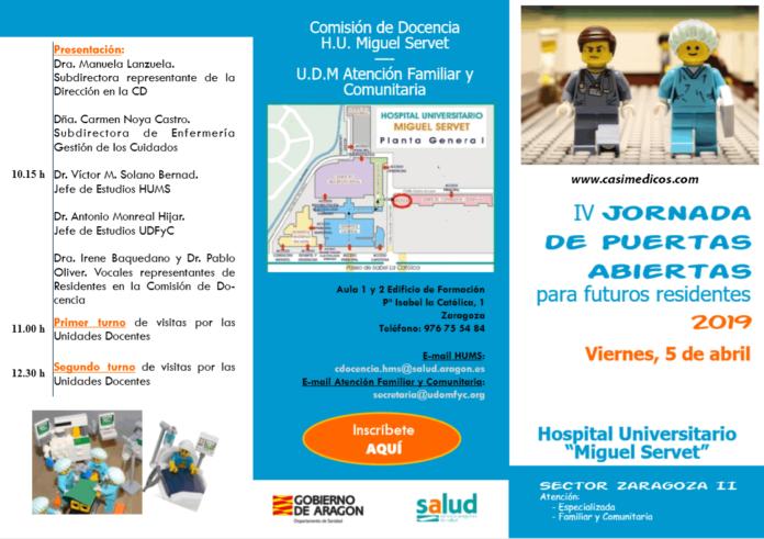 H.U.Miguel Servet. Jornada Puertas abiertas para futuros residentes 2019