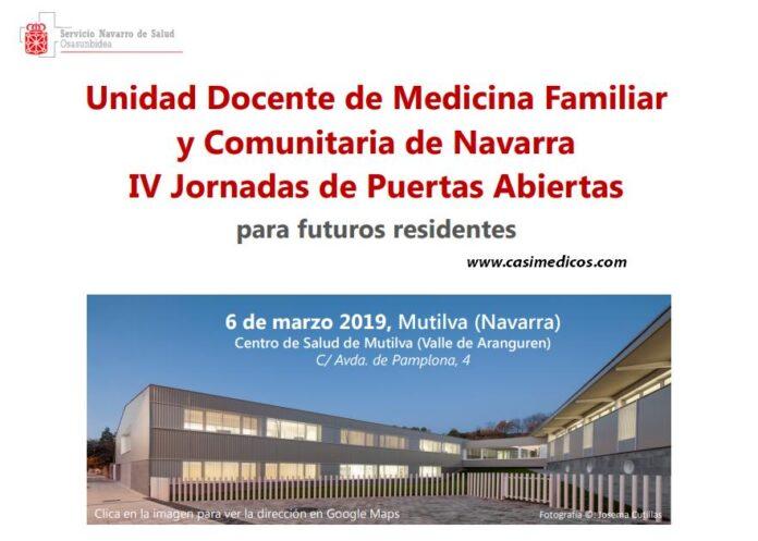 Unidad Docente de Medicina Familiar y Comunitaria de Navarra IV Jornadas de Puertas Abiertas para futuros residentes