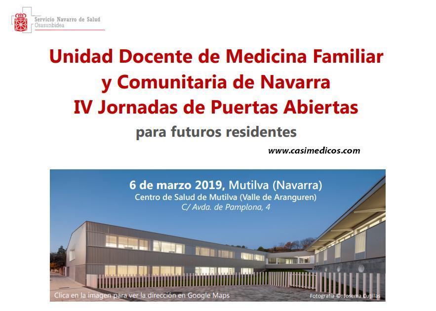 IV Jornadas de Puertas Abiertas para futuros residentes Unidad Docente de Medicina Familiar y Comunitaria de Navarra