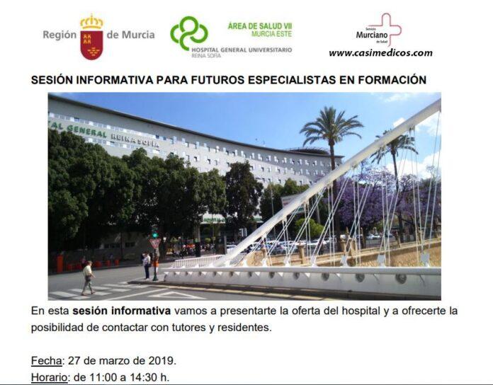 Hospital General Universitario Reina Sofía. SESIÓN INFORMATIVA PARA FUTUROS ESPECIALISTAS EN FORMACIÓN 2019