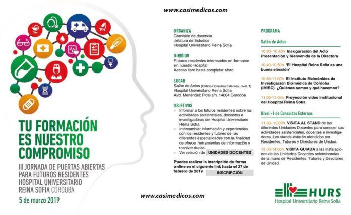 III Jornada de Puertas Abiertas para Futuros Residentes. Hospital Universitario Reina Sofía. Córdoba