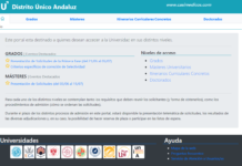 ACCESO AL DISTRITO UNIVERSITARIO DE ANDALUCÍA 2019