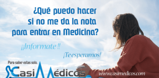 ¿Qué puedo hacer si no me da la nota para entrar en Medicina?