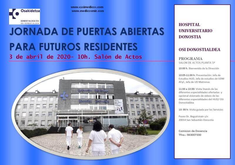 HOSPITAL DONOSTIA PUERTAS ABIERTAS 2020