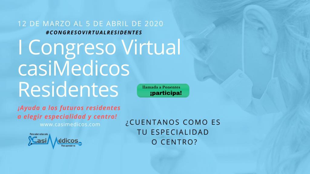 I Congreso Virtual de Futuros Residentes. Llamada a ponentes