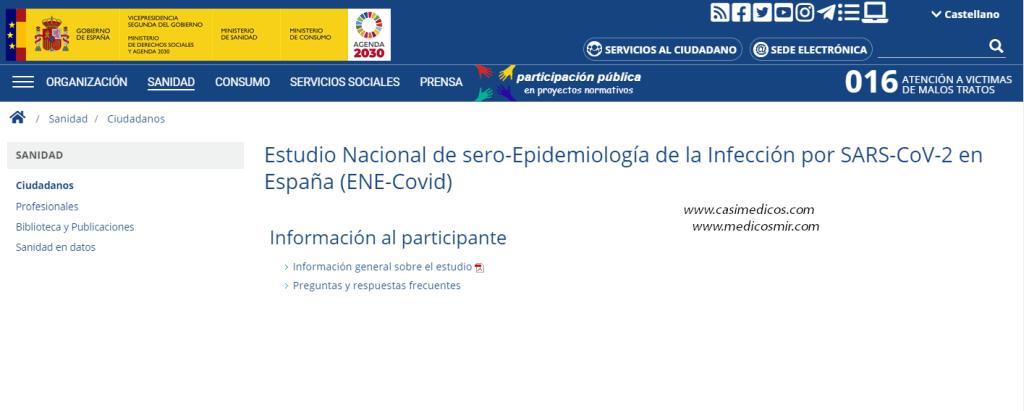 Estudio Nacional de sero-Epidemiología de la Infección por SARS-CoV-2 en España (ENE-Covid)
