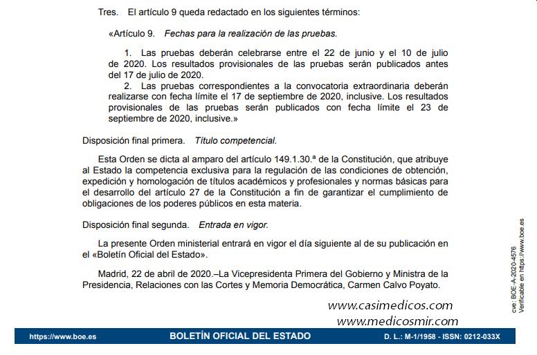 Características, diseño y contenido de la evaluación de Bachillerato para el acceso a la Universidad, curso 2019-2020