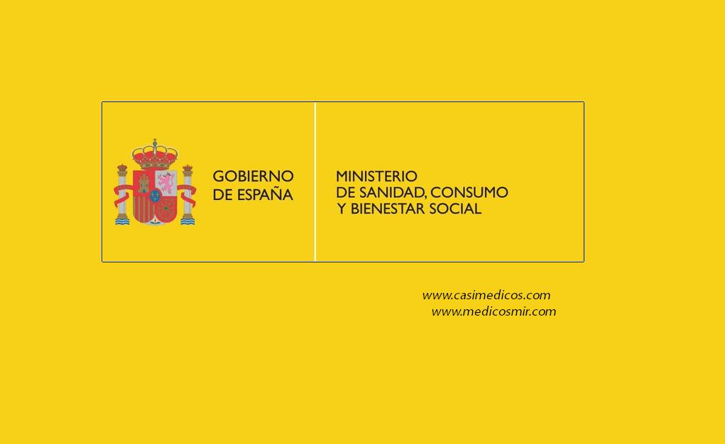 Ministerio de Sanidad, Consumo y Bienestar Social