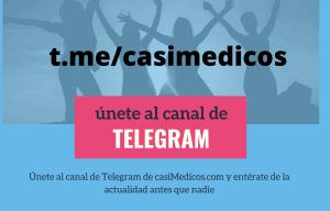 Únete al Canal de Telegram de casiMedicos