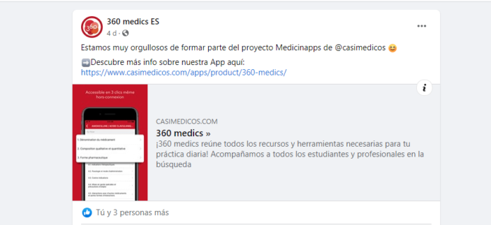 casiMedicos.com ha sido incluida en la app 360 medics