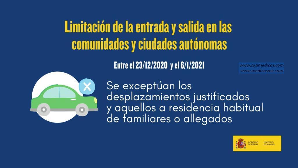 Entrada y salida en las CCAA y ciudades autónomas