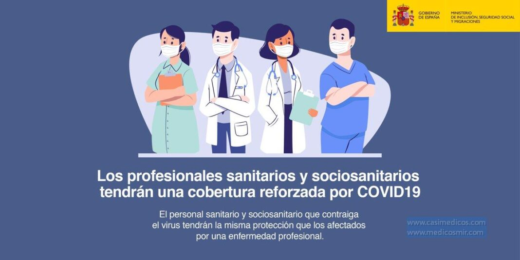 COVID-19 enfermedad profesional para trabajadores sanitarios y socio-sanitarios