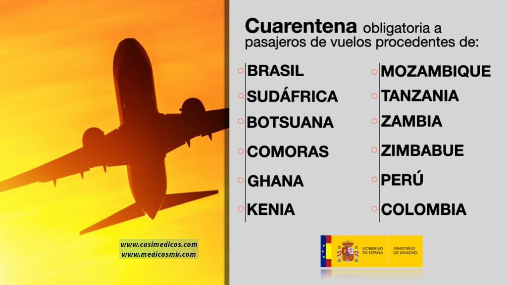 El Gobierno amplía la cuarentena obligatoria a los pasajeros de vuelos procedentes de otros 10 países para frenar la propagación de las nuevas variantes de la COVID-19