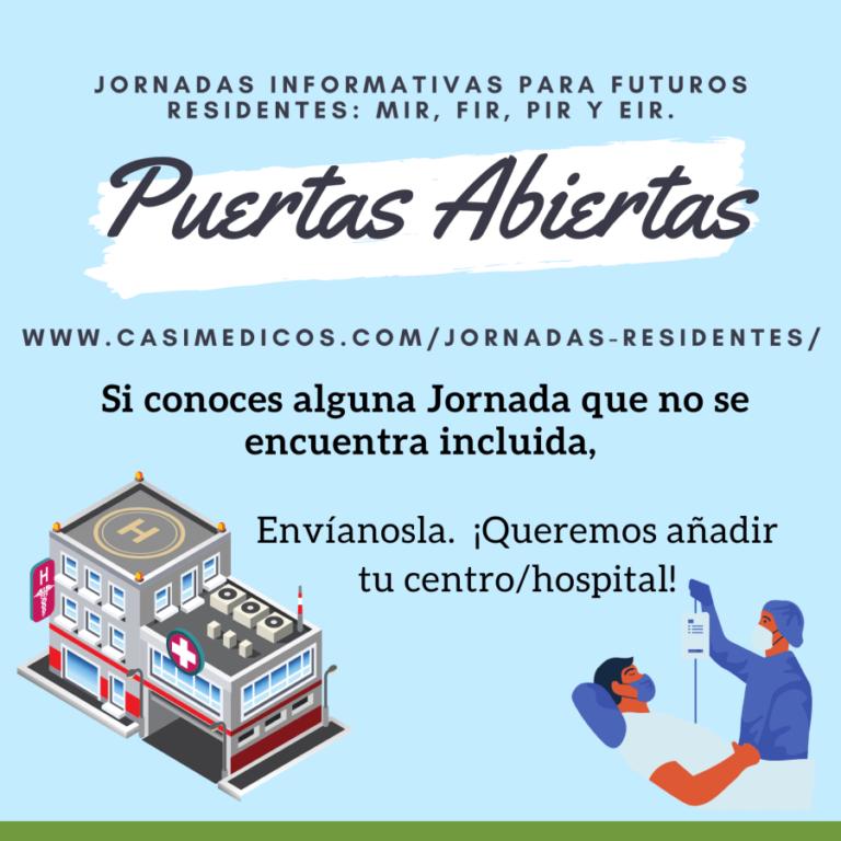 Jornadas De Puertas Abiertas Para Futuros Residentes 2021