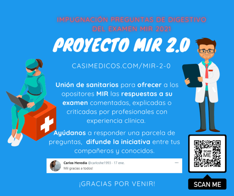 Actualización y posibles impugnaciones, respuestas preguntas de Digestivo MIR 2021