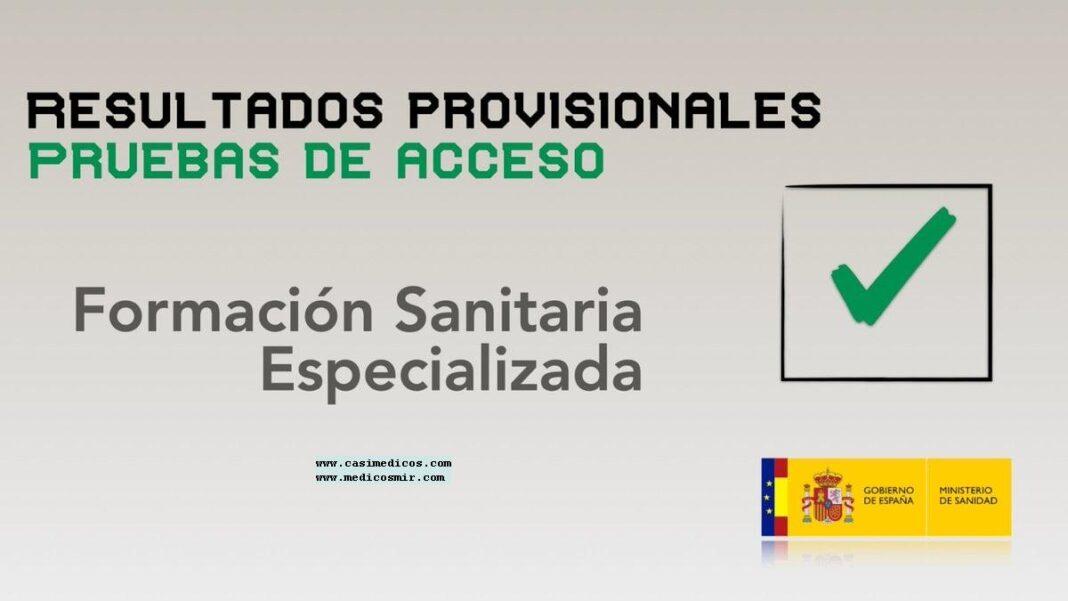 Publicados los resultados provisionales de las pruebas de acceso a la Formación Sanitaria Especializada (FSE)